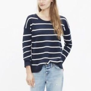 Madewell Navy Blue White Stripe Pullover Sweater S